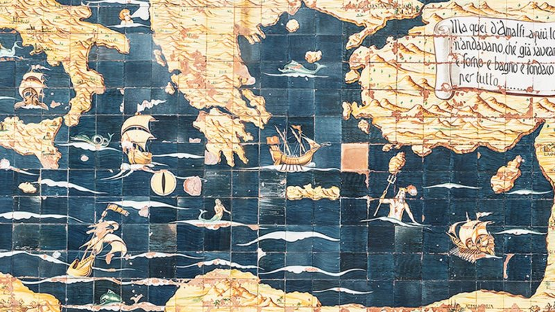 Alte Seekarte Mythen rund um Amalfi