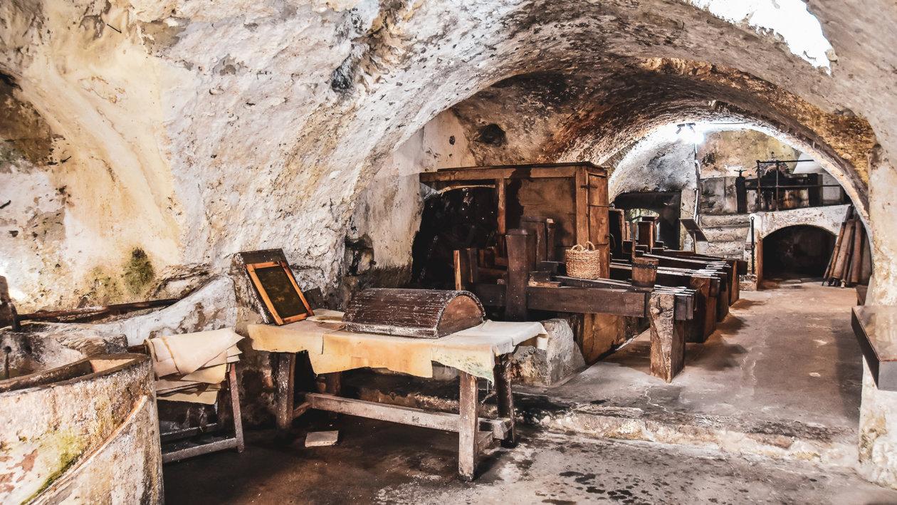 Blick in das Papiermuseum in Amalfi